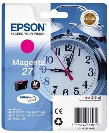 Картридж Epson C13T27034022 пурпурный (magenta) 3,6 мл для Epson WorkForce WF-3620/3640/7110/7210/7610/7620/7710