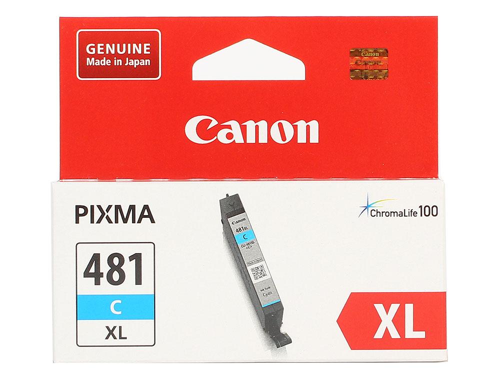 Картридж Canon CLI-481XL C EMB для TS6140/TS8140/TS9140/TR8540. Голубой. 519 страниц. картридж canon cli 481xl m пурпурный [2045c001]