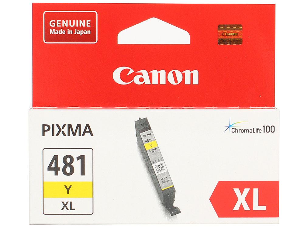 Картридж Canon CLI-481XL Y EMB для TS6140/TS8140/TS9140/TR8540. Жёлтый. 519 страниц. картридж canon cli 481xl m пурпурный [2045c001]