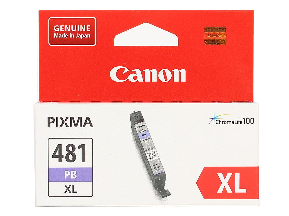 Картридж Canon CLI-481XL PB EMB для TS8140/TS9140. Фото голубой. 4710 страниц. canon cli 451c голубой