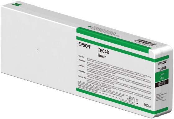 Картридж Epson C13T804B00 зеленый (green) 700 мл для Epson SureColor SC-P7000/P9000 емкость для отработанных чернил epson c13t699700 для epson surecolor sc p6000 epson surecolor sc p8000 epson surecolor sc p7000 epson surecolor sc p9000