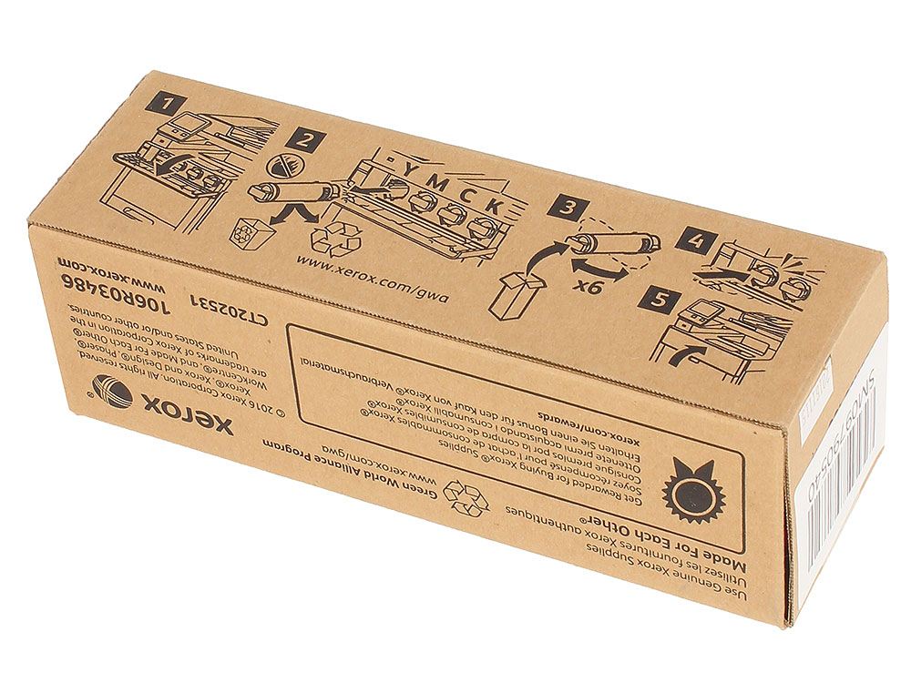 Картридж Xerox 106R03486 пурпурный (magenta) 2400 стр. для Xerox P6510/WC6515 цены