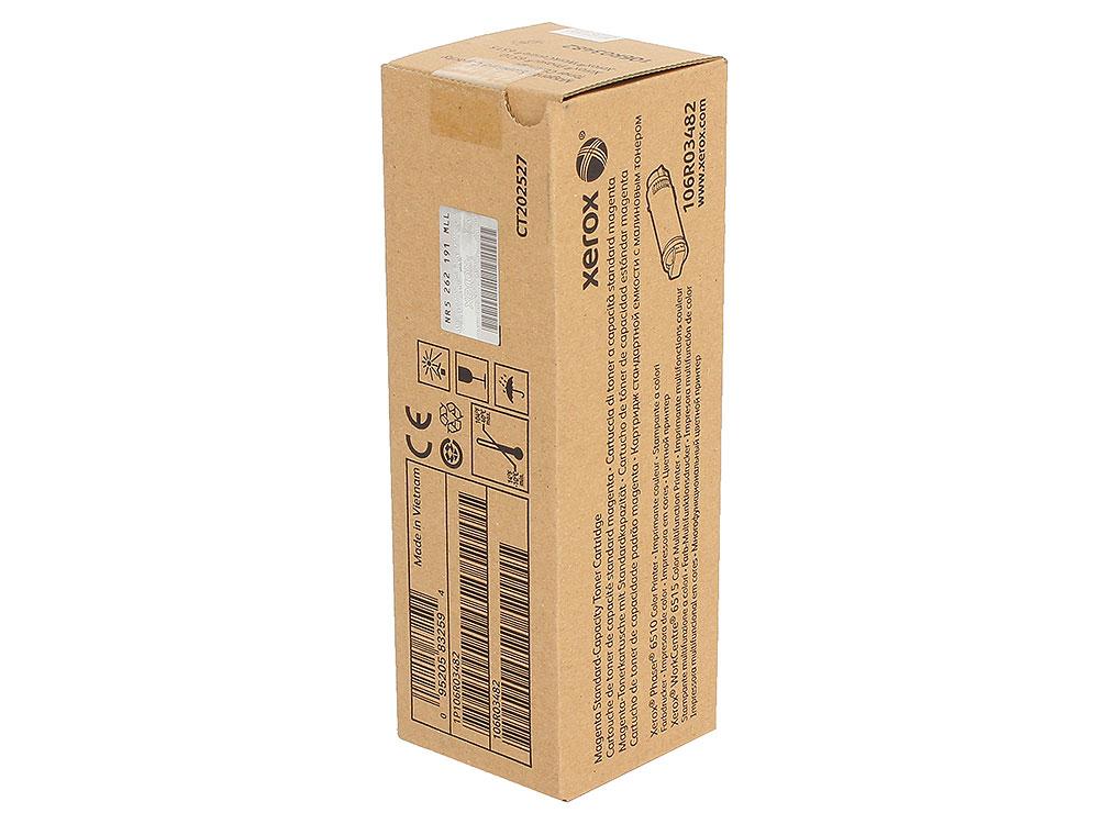 Картридж Xerox 106R03482 пурпурный (magenta) 1000 стр. для Xerox P6510/WC6515 картридж xerox magenta 106r01632
