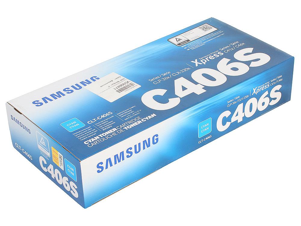 Картридж Samsung CLT-C406S голубой (cyan) 1000 стр для CLP-360/365/CLX-3300/3305 цены