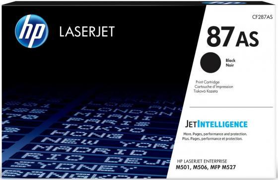 Картридж HP CF287AS черный (black) 6000 стр для HP LaserJet Pro M501dn / Enterprise M506/527 картридж hp 87x черный black 2x18000 стр для hp laserjet m501 m506 m527