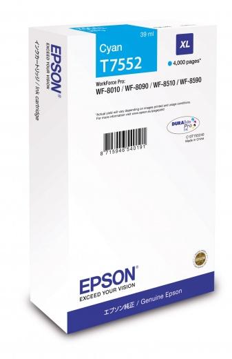Картридж Epson C13T755240 голубой (cyan) 4000 стр. для Epson WF-8090/8590