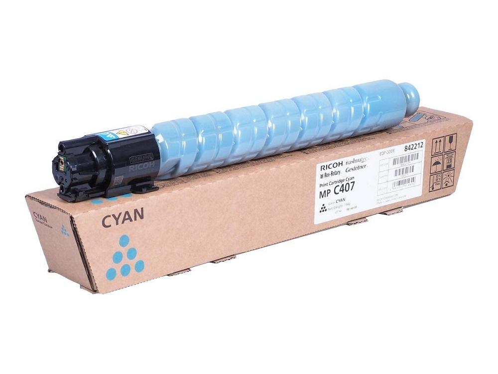 Картридж Ricoh MP C407 голубой (cyan) 8000 стр. для Ricoh Aficio MP C307SPF/C307SP/C407SPF