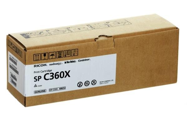 Картридж Ricoh SP C360X голубой (cyan) 9000 стр. для SP C361SFNw тонер картридж ricoh sp 230h черный black 3000 стр для ricoh sp 230dnw 230sfnw