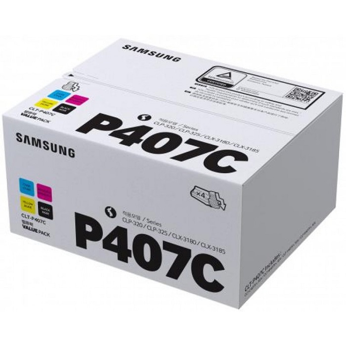 Картридж Samsung CLT-P407C четырехцветный (four-color) 1000 стр для Samsung CLP-320/325 / CLX-3185