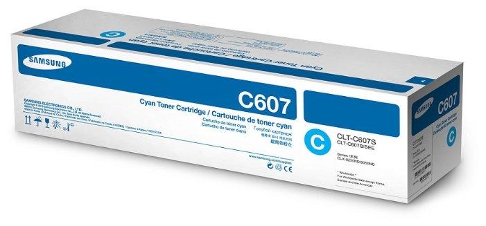 Картридж Samsung CLT-C607S голубой (cyan) 15000 стр. для Samsung CLX-9250ND/9350ND цена 2017