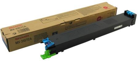 Картридж Sharp MX31GTCA голубой (cyan) 15000 стр. для Sharp MX2301 / MX2600 / MX3100 sharp mx31gtba