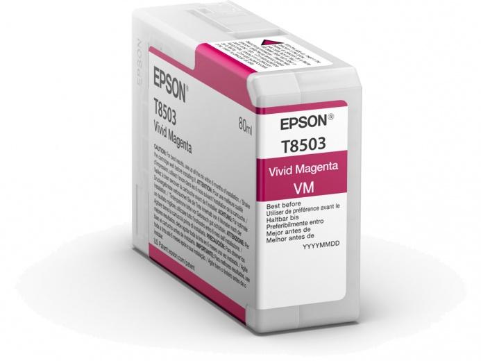 Картридж Epson C13T850300 пурпурный (magenta) 80 мл для Epson SureColor SC-P800 чернила easyprint i e100m пурпурный magenta 100 мл для epson