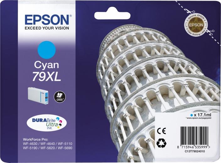 Картридж Epson C13T79024010 голубой (cyan) 2600 стр. для Epson WorkForce Pro WF-5110DW/5620DWF