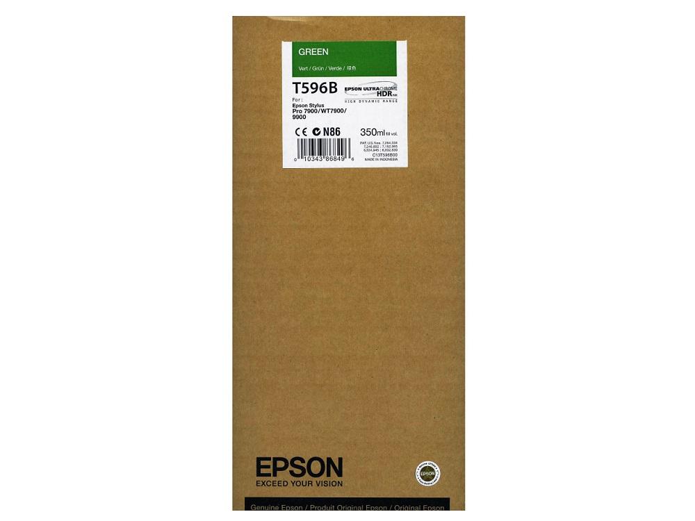 Картридж Epson C13T596B00 зеленый (green) 350 мл для Epson Stylus Pro 7900/9900