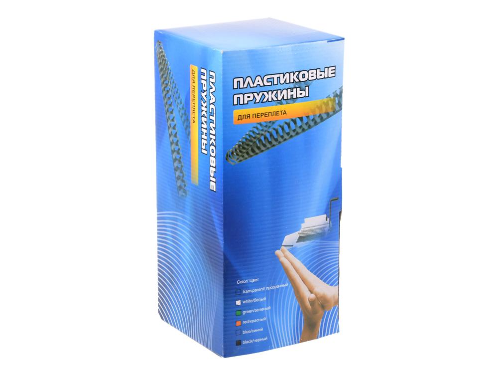 Пластиковые пружины для переплета ГЕЛЕОС 16 мм (110-141 лист), белые, 100 шт. цена в Москве и Питере
