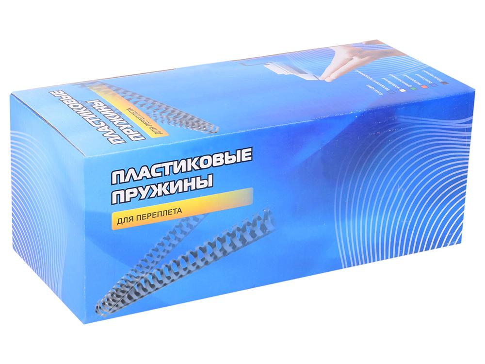 Пластиковые пружины для переплета ГЕЛЕОС 22 мм (200 листов), черные, 50 шт. пластиковые пружины fellowes 10 мм черные 100 шт