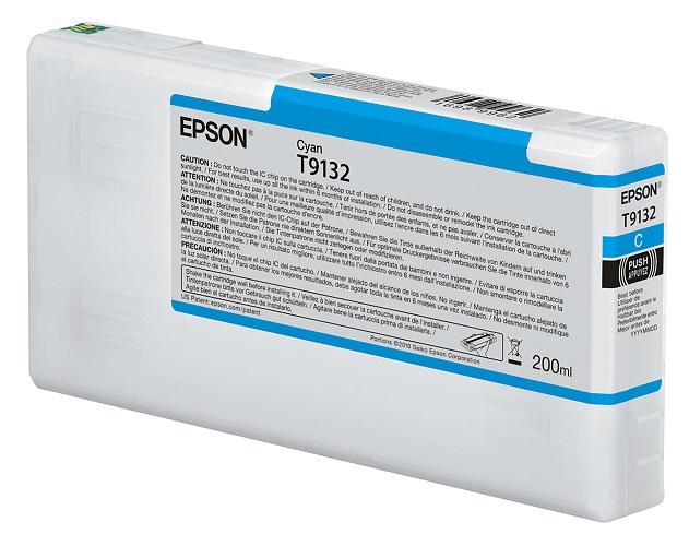 Картридж Epson C13T913200 голубой (cyan) 200 мл для Epson SureColor SC-P5000 картридж epson для xp600 7 8 c13t26324012 голубой
