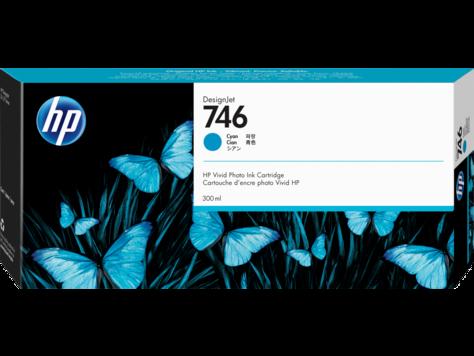 Картридж HP 746 голубой (cyan) 300 мл для HP DesignJet Z6/Z9+ картридж для струйных аппаратов hp scitex fb250 light cyan ink ch220a