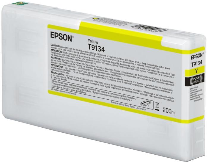 Картридж Epson T9134 C13T913400 желтый (yellow) 200 мл для Epson SureColor SC-P5000 картридж epson t0804 yellow c13t08044011
