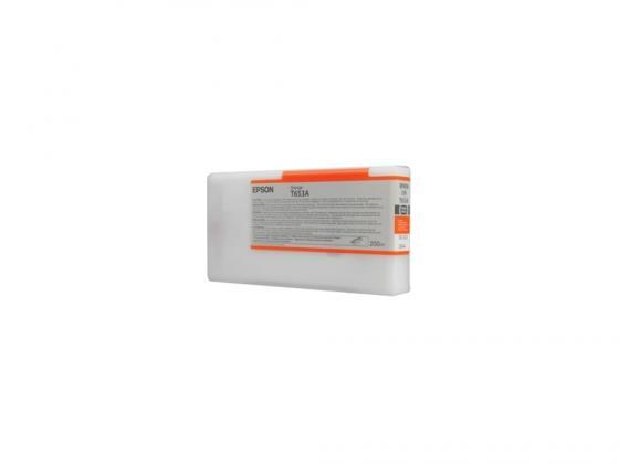 Картридж Epson C13T653A00 оранжевый (orange) 200 мл для Epson Stylus Pro 4900