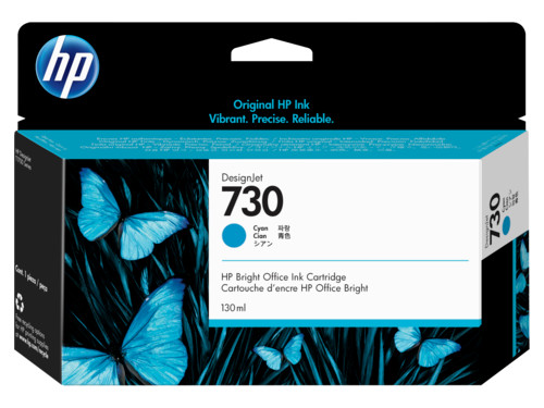 Картридж HP 730 струйный голубой (130 мл) стоимость