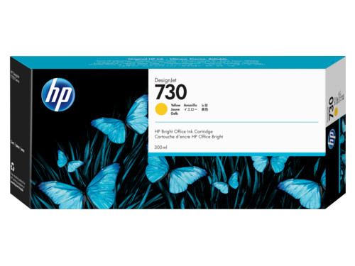 Картридж HP 730 струйный желтый (300 мл) цена