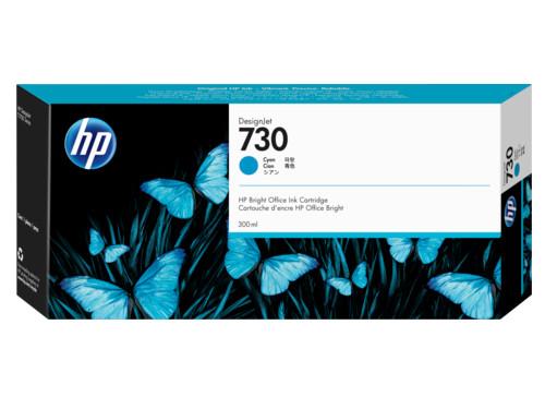 Картридж HP 730 струйный голубой (300 мл) hp голубой картридж hp 82 28 мл