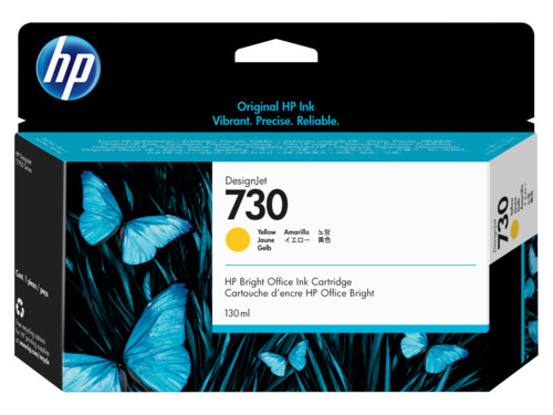 Картридж HP 730 струйный желтый (130 мл) стоимость