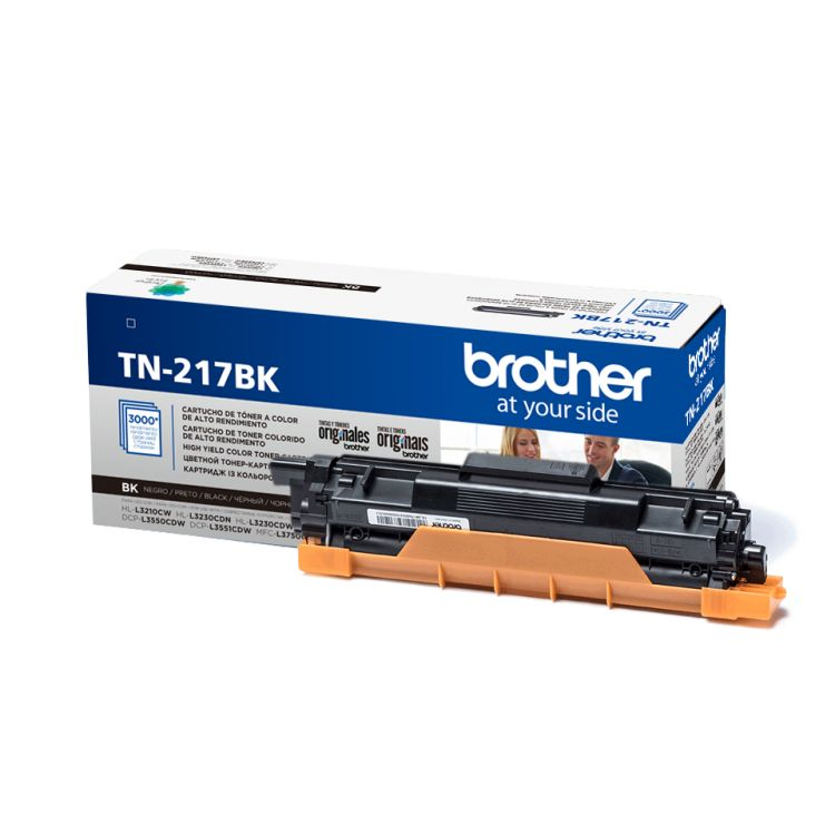 Картридж Brother TN217BK черный (black) 3000 стр. для Brother HL-L3230CDW / DCP-L3550CDW / MFC-L3770CDW картридж brother tn 3230 для hl 5340d 5350dn 5370dw dcp 8070d 8085dn mfc 8370d 8880dn 3000 стр