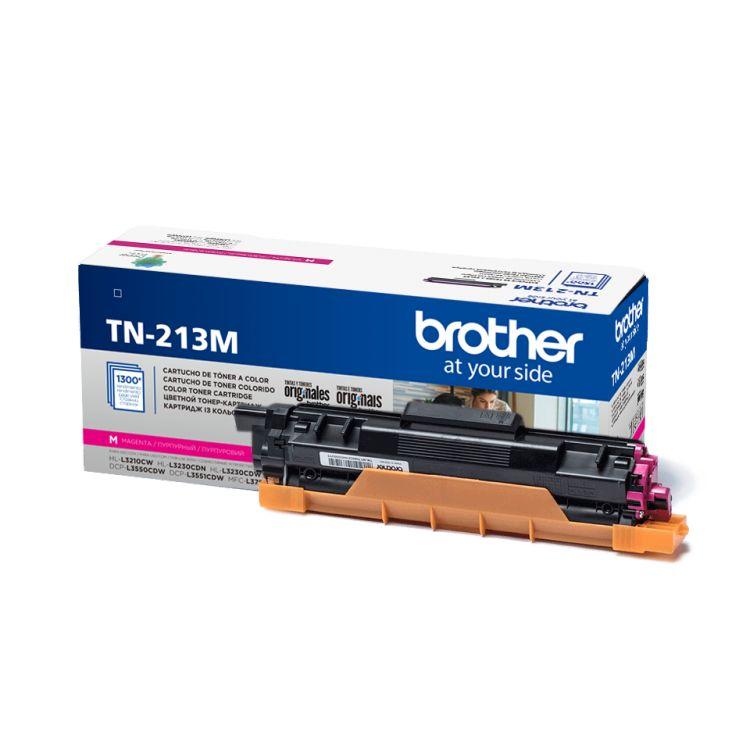 Картридж Brother TN213M пурпурный (magenta) 1300 стр. для Brother HL-L3230CDW / DCP-L3550CDW / MFC-L3770CDW