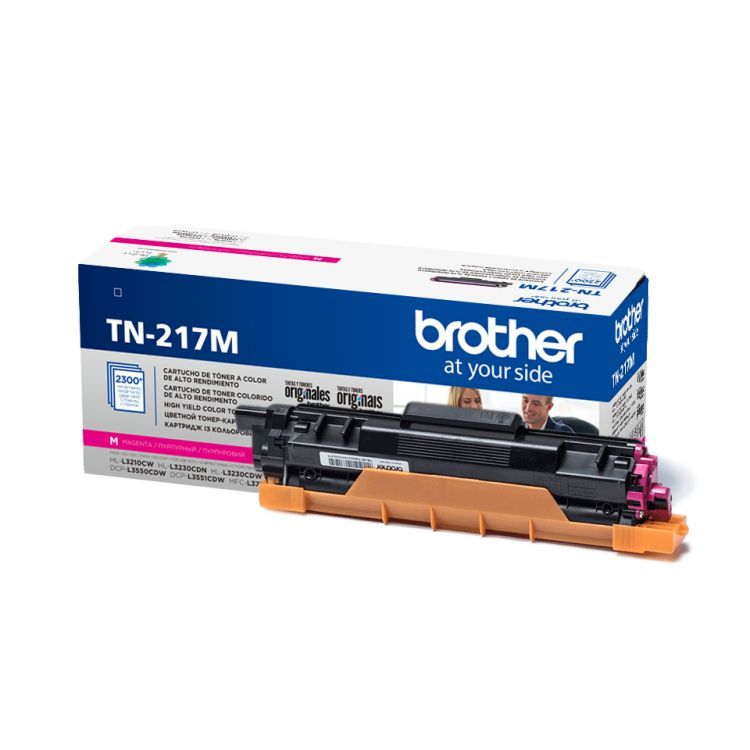 цены Картридж Brother TN217M пурпурный (magenta) 2300 стр. для Brother HL-L3230CDW / DCP-L3550CDW / MFC-L3770CDW