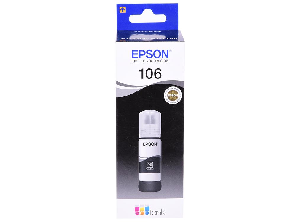 Картридж Epson T00R140 черный (black) 70 мл для Epson L7160/7180 чернильный картридж epson t0922