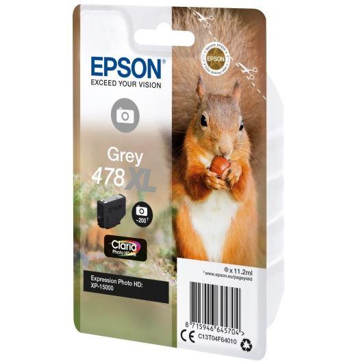 Картридж Epson C13T04F64020 серый (grey) 200 фото для Epson Expression Photo HD XP-15000