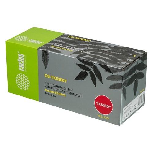 Картридж Cactus CS-TK5290Y желтый (yellow) 13000 стр. для Kyocera Ecosys P7240cdn цена 2017