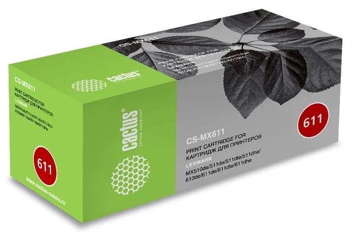 цена на Картридж Cactus CS-MX611 черный (black) 20000 стр. для Lexmark MX 510/511/610/611