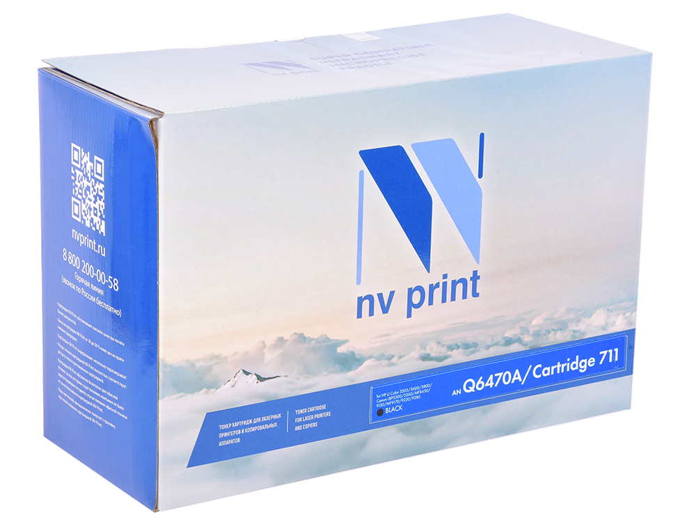 Картридж NV-Print HP Q6470A/Canon 711 черный (black) 6000 стр. для HP LaserJet Color 3505/3600/3800 / Canon LBP-5300/5360 / MF-9130/9170/9220Cdn/9280Cdn картридж cactus q6470a cs q6470a