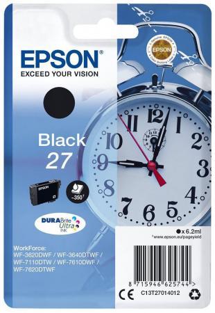 Картридж Epson C13T27014022 черный (black) 350 стр для Epson WorkForce WF-3620/3640/7110/7610/7620