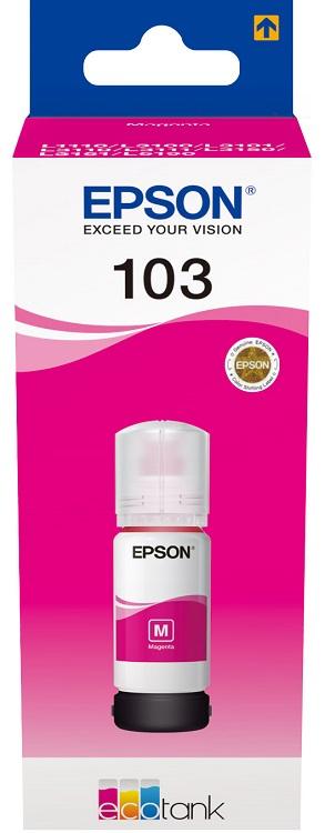 Картридж Epson 103M C13T00S34A пурпурный (magenta) 65мл для Epson L3100/3110/3150 цена 2017