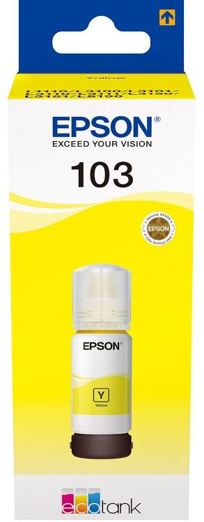 Картридж Epson 103Y C13T00S44A желтый (yellow) 65мл для Epson L3100/3110/3150