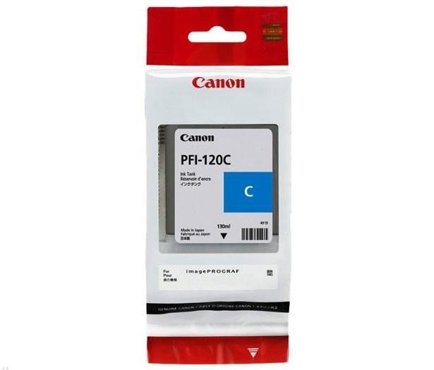 Картридж Canon PFI-120C голубой (cyan) 130 мл для Canon imagePROGRAF TM-200/205/300/305 цена