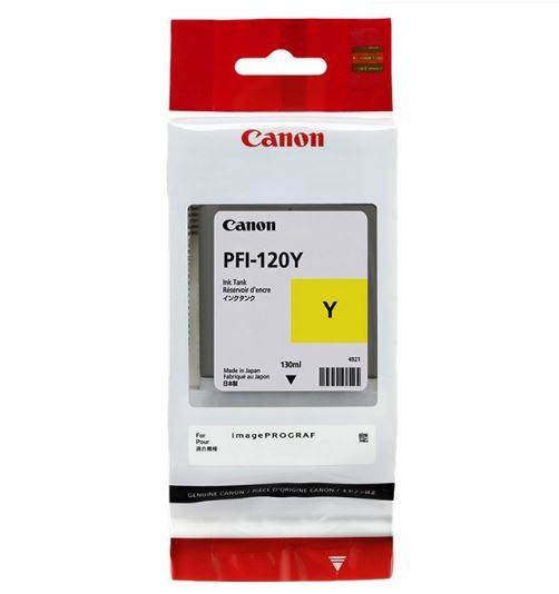 Картридж Canon PFI-120Y желтый (yellow) 130 мл для Canon imagePROGRAF TM-200/205/300/305 pfi 207y yellow 300 мл 8792b001