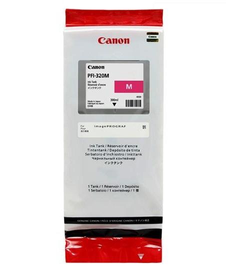 Картридж Canon PFI-320M пурпурный (magenta) 300 мл для Canon imagePROGRAF TM-200/205/300/305 картридж струйный canon pfi 120 bk 2885c001 черный для canon imageprograf tm 200 205