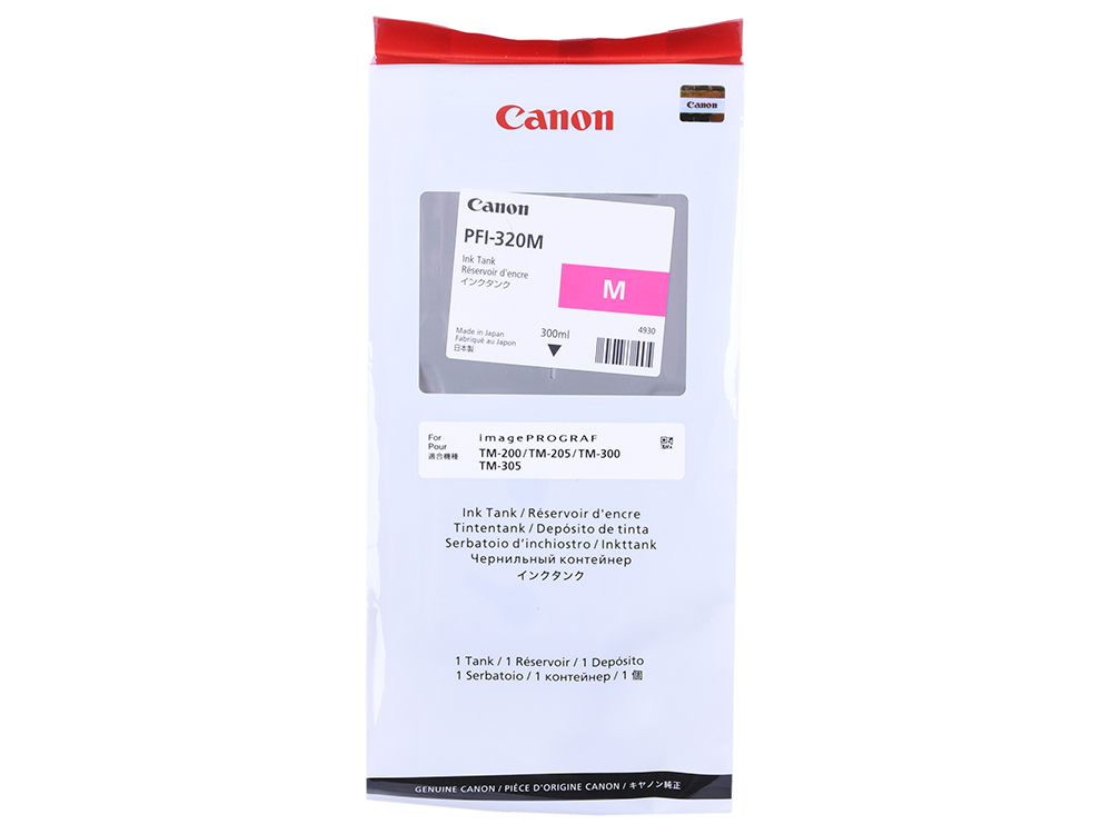 Картридж Canon PFI-320Y желтый (yellow) 300 мл для Canon imagePROGRAF TM-200/205/300/305 цена и фото