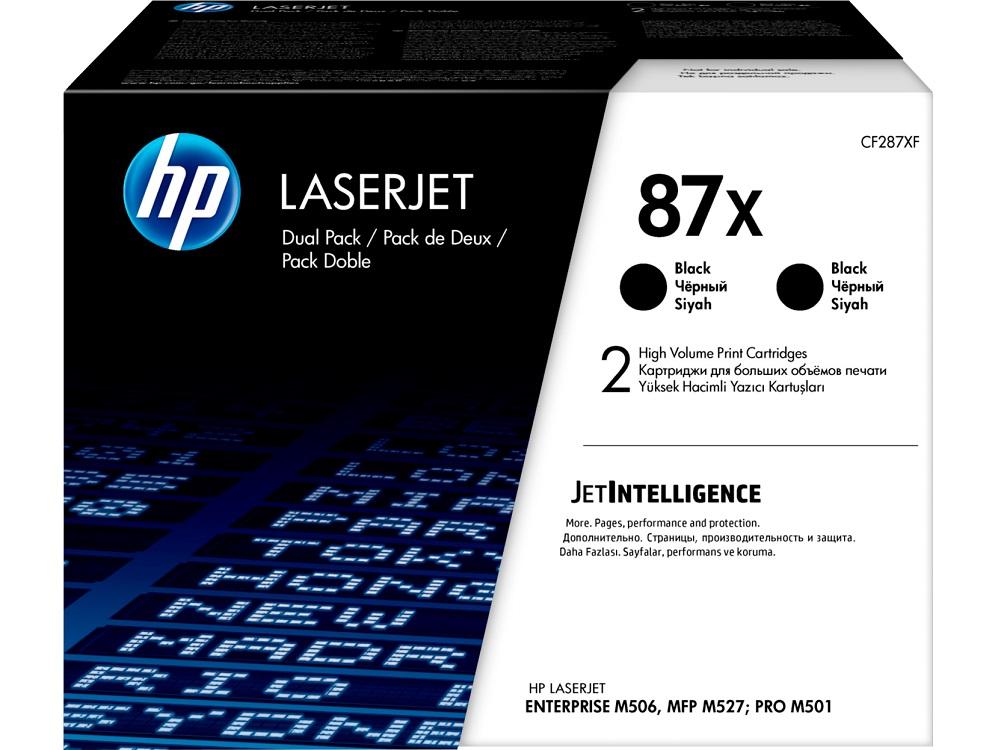 Картридж HP 87X черный (black) 2x18000 стр. для HP LaserJet M501/M506/M527 hp 12а black q2612af