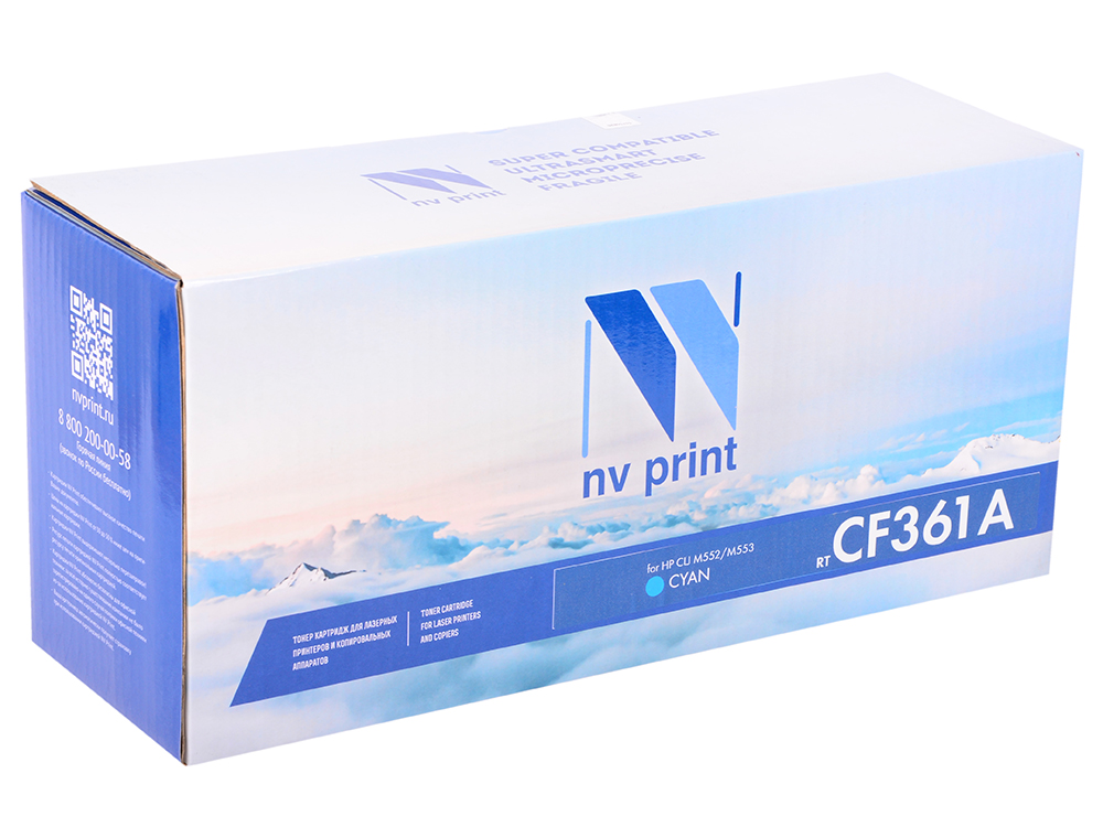 цена на Картридж NV-Print CF361A голубой (cyan) 5000 стр для HP LaserJet Color M552dn/M553/M577