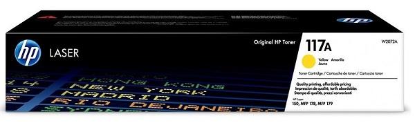 Картридж HP 117A (W2072A) желтый (yellow) 700 стр для HP Color Laser 150/178/179