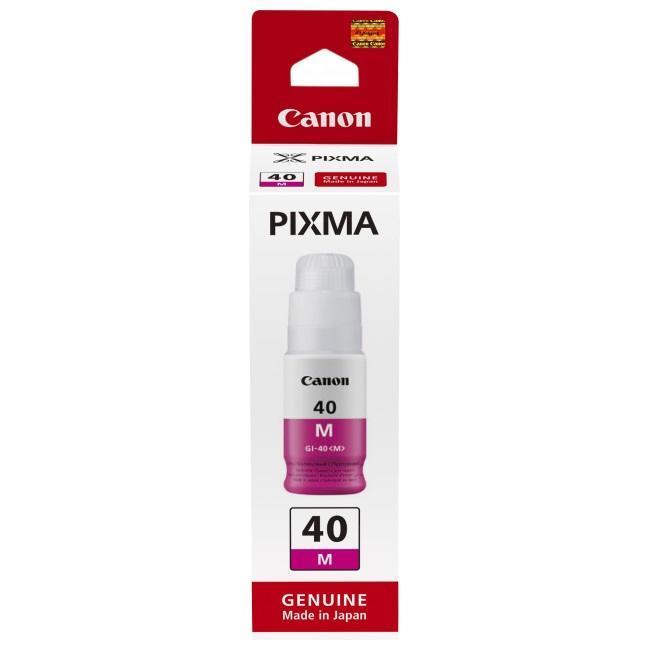 Картридж Canon GI-40 M пурпурный (magenta) 70 мл для Canon PIXMA GM2040 / G5040/G6040 colorwave300 magenta 350 мл 5834b007
