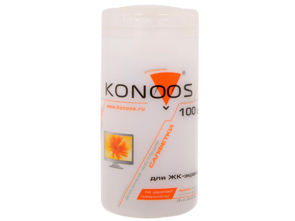 Салфетки для ЖК-экранов в банке Konoos KBF-100 100 шт