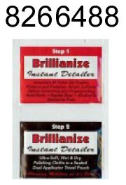 Чистящие салфетки Brillianize Detail Wipes (упаковка из 12 пакетов) (арт.8266488) gun flap detail wrap coat