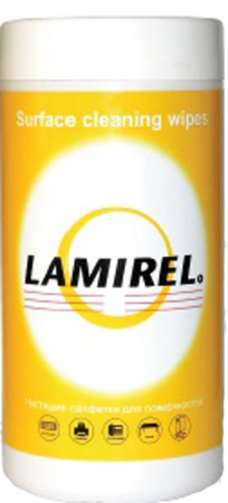 Чистящие салфетки Fellowes Lamirel LA-5144001 100 шт